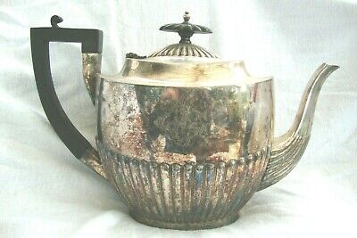 Antique Georgian Style Silver Plated Teapot Walker & Hall Sheffield No:109/20