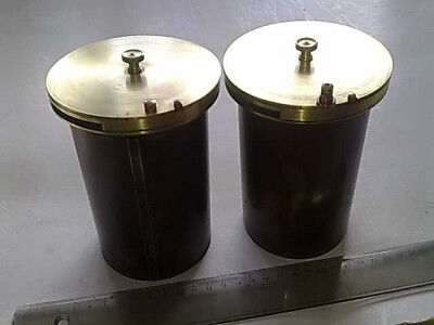 A pair of Antique Petzval  Brass Projector Lenses.