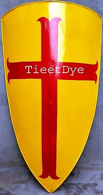Medieval Knight Shield All Metal Handcrafted Medieval Armour Shield yellow