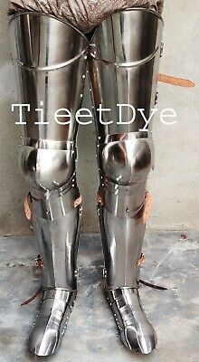 Medieval Steel Armour Legs Greek Pair Halloween Leg with Armour shoes