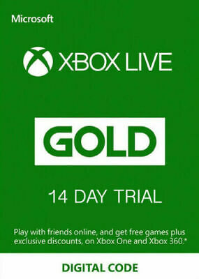 Xbox Live Gold 14 Days Trial Code New Accounts Only