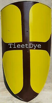 Medival Knight Shield All Metal Handcrafted Medieval Armour Shield yellow finshe