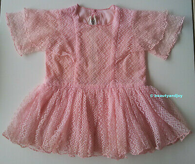 Vintage 70s Pink Beautiful Gorgeous Dress Cute Very Pretty