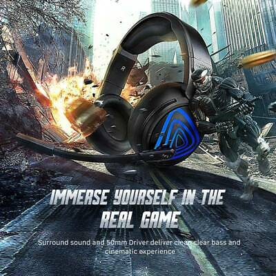 Mpow EG8 Gaming Headset Mic Wired Headphone for PC PS4 Xbox One Surround Sound
