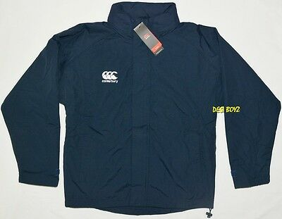 BNWT - Canterbury Kids Training Jacket with Hoodie Navy - Size: 10 Years
