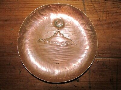 Newlyn copper pin dish depicting St Michaels Mount