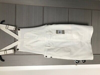 White Dungaree dress brand new with tags