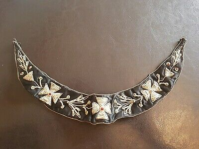 Vintage Art Deco 1930'S Fine Hand Beaded Wirework Collar Necklace Superb Example