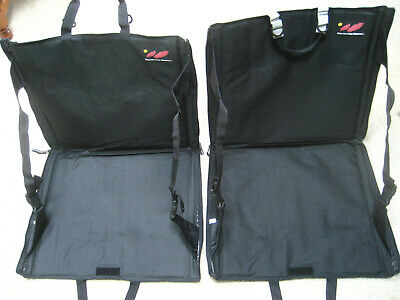 BOULDER PACK CO. 2 Black, Portable Stadium Seats with zippered pockets