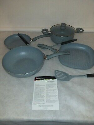 Russell Hobbs 8 Piece Stone Collection Pan Set