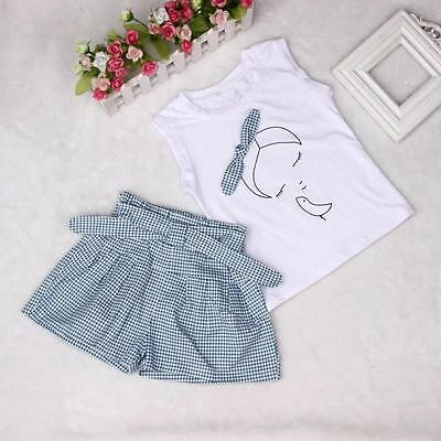 New Fashion Baby Kids Girls T Shirt Pants Dress Summer Outfits Clothes Set A5