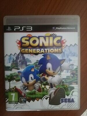 Sonic Generations RARO PRIMA EDIZIONE ITALIANO ps3 PAL ITA PlayStation 3