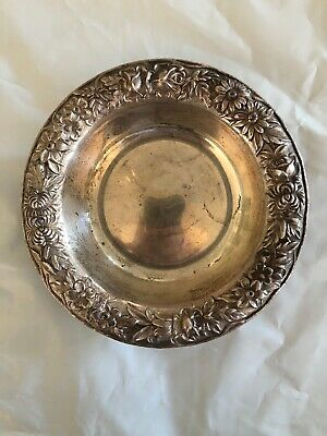 """S. Kirk & Son Inc. REPOUSSE Sterling Silver Small Round Dish 5"""" 98g"""