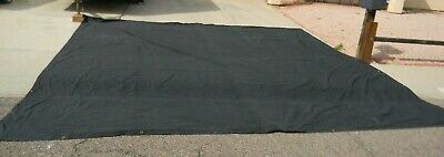 Commercial Black Theater Stage Back Drop Drape Stage Curtain FR 18' H x 18' W