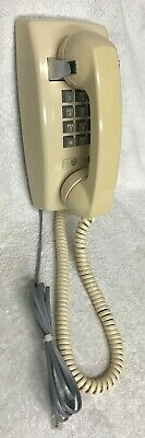 Vintage WESTERN ELECTRIC 2554BMP LIGHT BROWN Push Button Dial Wall Telephone