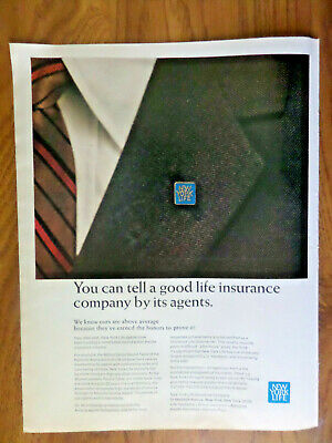1966 New York Life Insurance Ad You can tell a good Company by its Agents