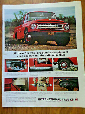1965 IH International Harvester Pickup Truck Ad All these EXTRAS are Standard