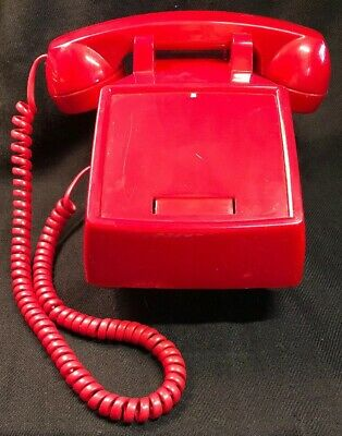 CORTELCO Red VIP Desk Phone - Incoming Calls Only - Can't Call Out - Made in USA