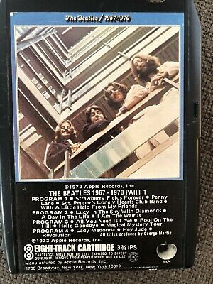 Beatles, 1967-1970, Part 1, (the Blue Album), 8 Track Tape