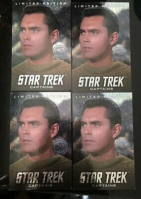 FOUR RARE Captain Pike Star Trek Captains Card Dave & Busters LIMITED EDITION