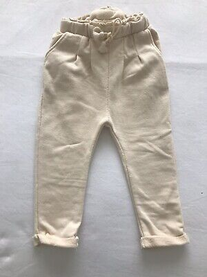Zara Girls Cream Trousers Age 12-18 Months