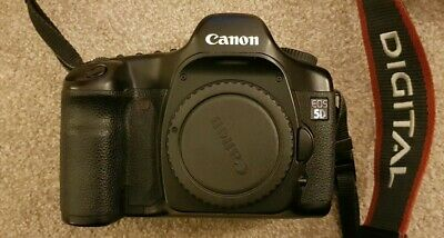 Canon EOS 5D (Mark I) 12.8MP Digital SLR Camera - Black - Body & Charger