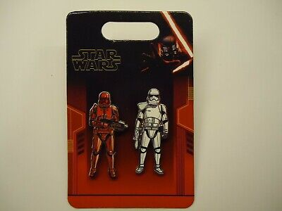 Disney Parks Star Wars Rise of Skywalker Stromtrooper & Sith 2 Pin Set  **NEW**