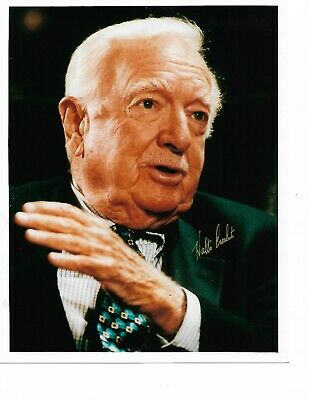 Autographed 8x10 photo of newsman WALTER CRONKITE. Signed in 2001. Free Shipping