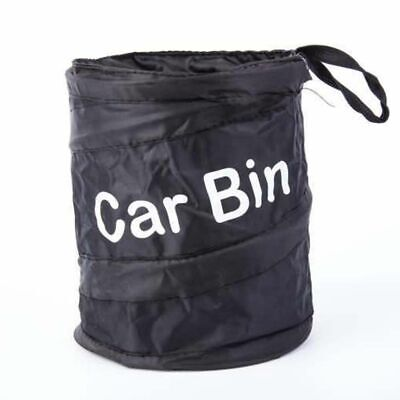 Car Bin Mini Pop Up Black Storage Rubbish Dustbin Foldable Travel Waste Basket
