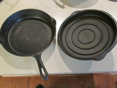 Griswold no. 9 Cast Iron Skillet With Lid Erie PA  710 H