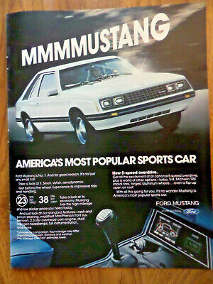 1980 Ford Mustang sport Classic Advertisement Ad P63
