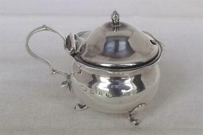 An Antique Solid Silver Victorian Mustard Pot With Glass Liner Birmingham 1897.