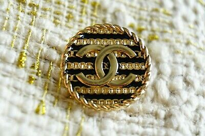 Chanel buttons lot of 8 Metal logo CC  0,8 inch or 19 mm Gold