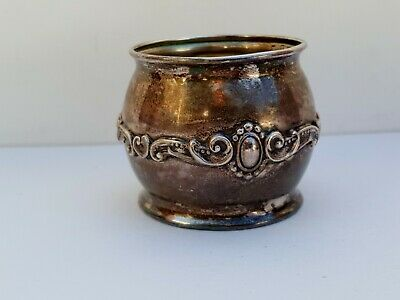 Vintage Antique Old Solid .925 Fine Sterling Silver Napkin Ring No Monogram 24g