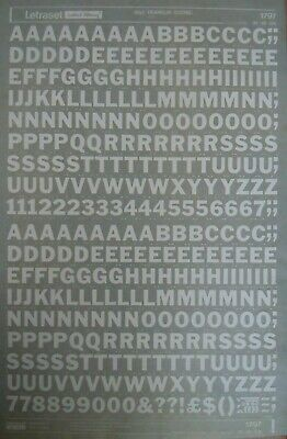 LETRASET White Transfers FRANKLIN GOTHIC 48pt CAPS (#1797) NEW/damaged