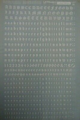 LETRASET White rub on Transfers OLD ENGLISH 36pt & 24pt   8.7mm & 6.5mm (#216)