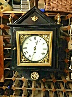 antique chain driven fusee , gothic style,wall clock