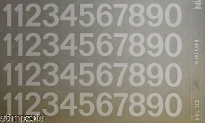 Mecanorma  WHITE NUMBER Transfers CHIFFRES 35mm (#CH.144) NEW