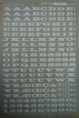 LETRASET White dry rub on Transfers CAPITALS 10mm (#514) NEW