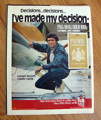 1971 Pall Mall Cigarette Ad    Float Airplane
