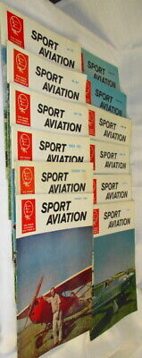 Lot of 12 Sport Aviation 1964 Magazines (complete year) (SKU# 2326)
