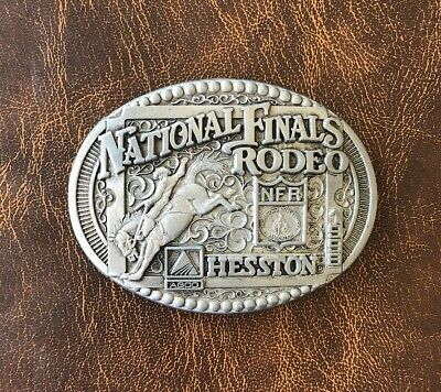 Hesston 1998 National Finals Rodeo Commemorative Series Belt Buckle Adult