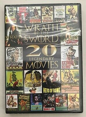 WRATH OF THE SWORD: 20 legendary Movies (DVD 2013 4-Disc Set) Sealed NEW