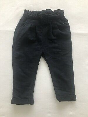 Zara Girls Navy Blue Trousers Age 12-18 Months