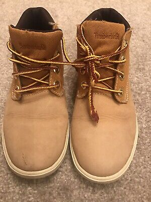 Timberland Ladies Girls Shoes Boots Trainers Size Uk 3 Light Brown Suede Leather