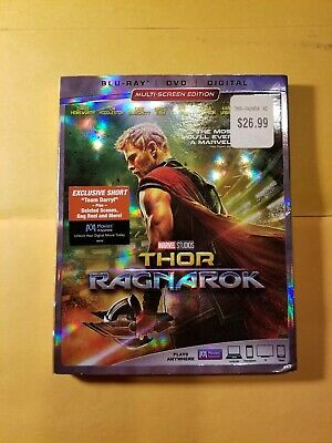 Thor: Ragnarok (Blu-ray/DVD, 2018, 2-Disc Set, Includes Digital Copy) Brand New