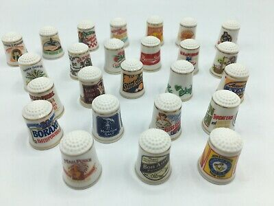 The Country Store Thimbles Set Of 25 Great Brands Advertising