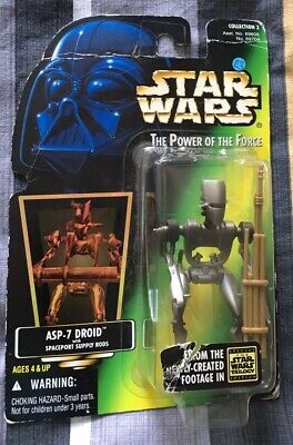 Star Wars, The Power Of The Force, ASP-DROID, Original Unopened Card,1997
