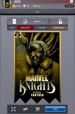 Topps Marvel Collect Black Panther MARVEL KNIGHTS 2nd Printing [DIGITAL] 750cc