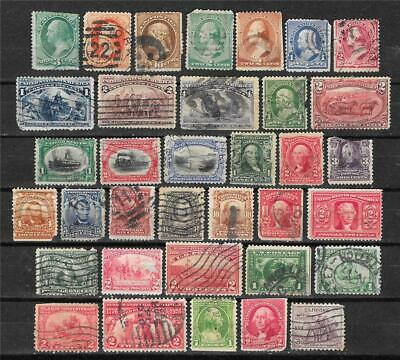 Us Used Stamp Lot 35 Mixed Condition,Faulty Columbian,Pan Expo Scott #158,297